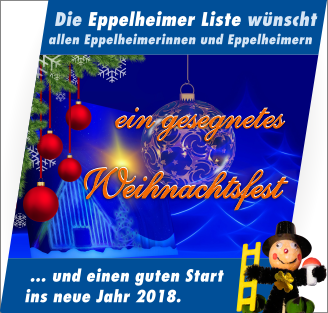 Weihnachtsgruß 2017 und Neujahrsgruß 2018
