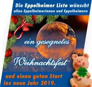 Weihnachtsgruß und Neujahrsgruß der Eppelheimer Liste