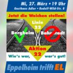 Infomationsveranstaltung Linie 22 – Aktion 22