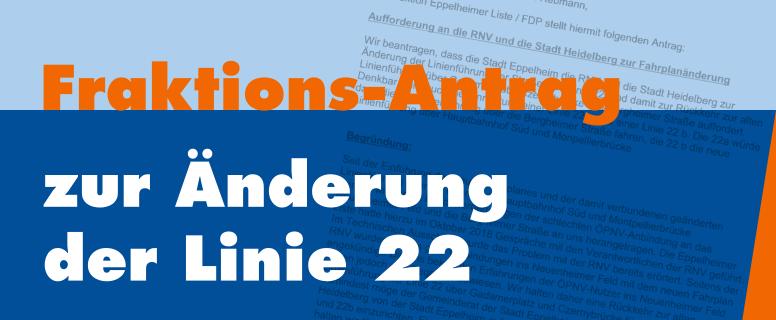 Fraktions-Antrag zur Änderung der Linie 22
