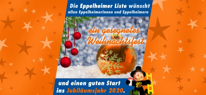 Weihnachtsgruß und Neujahrsgruß der Eppelheimer Liste 2019