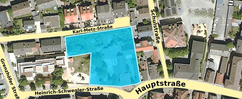 """Plangebiet """"Karl-Metz-Straße/Heinrich-Schwegler-Straße"""""""